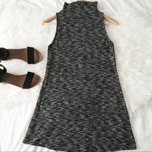 Gray & Gray Mixed Knit Stretchy Dress // Urban O